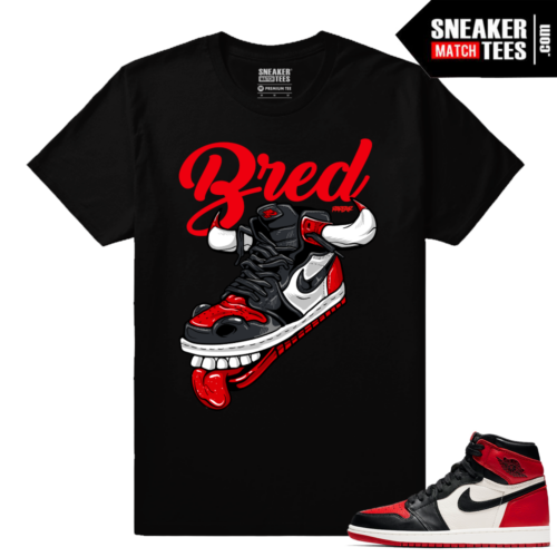Jordan 1 Bred Toe Sneaker tees Black Fly Kicks