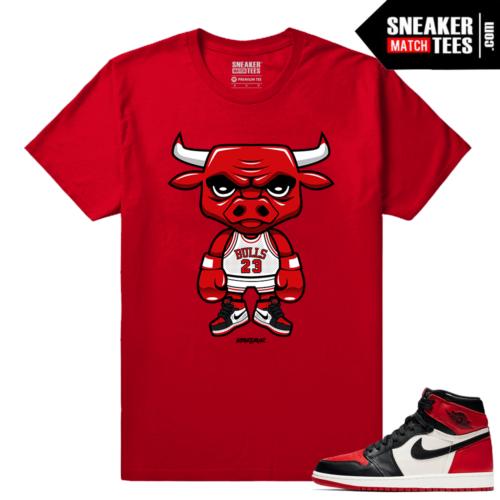 Jordan 1 Bred Toe Sneaker tees Red Bred Toe Bull