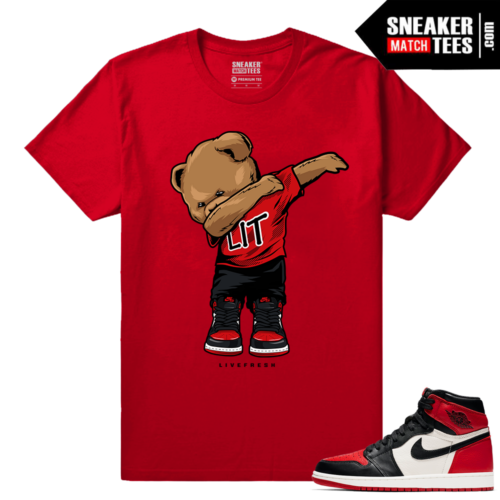 Jordan 1 Bred Toe Sneaker tees Red Dabbin Polo Bear