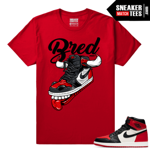 Jordan 1 Bred Toe Sneaker tees Red Fly Kicks