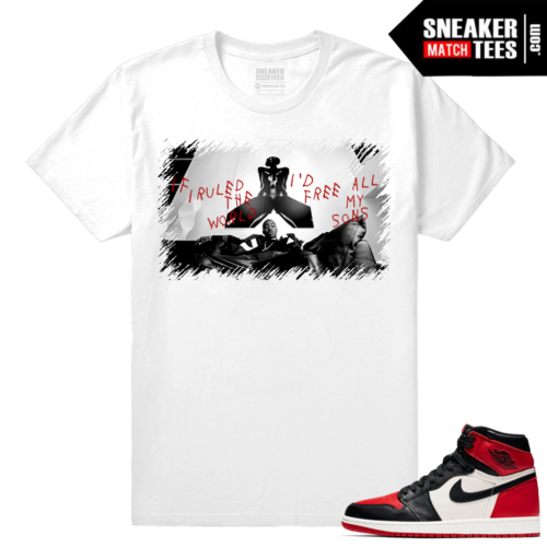 Jordan 1 Bred Toe Sneaker tees White Free All my Sons