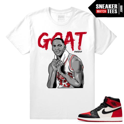 Jordan 1 Bred Toe Sneaker tees White GOAT
