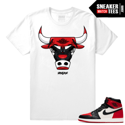 Jordan 1 Bred Toe Sneaker tees White Rare Air Bull Ones