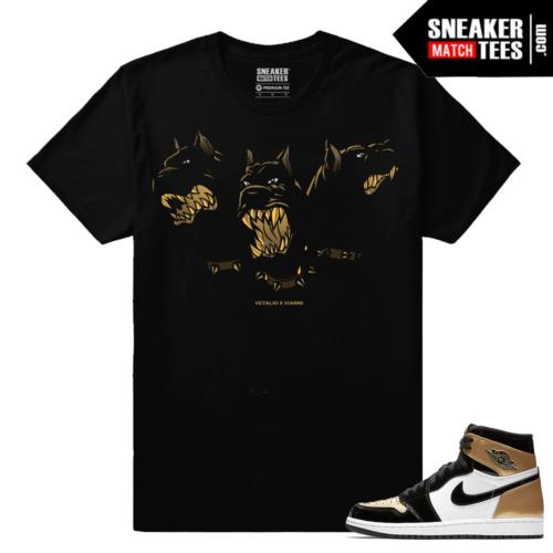 Jordan 1 Gold Toe NRG Sneaker tees Black Cerberus Vetalio Vianni
