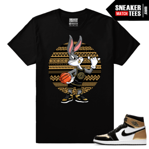Jordan 1 Gold Toe NRG Sneaker tees Black Gold Toe Bugs