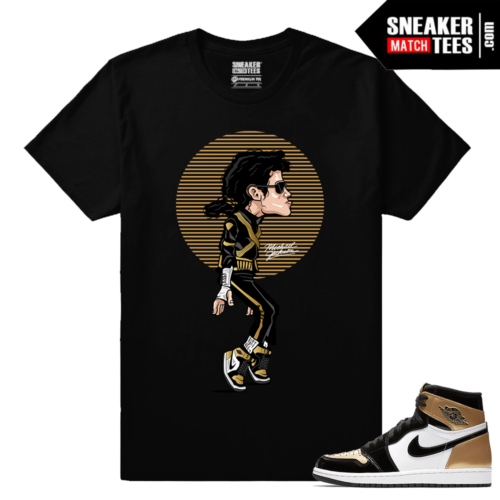 Jordan 1 Gold Toe NRG Sneaker tees Black MJ Tip Toe