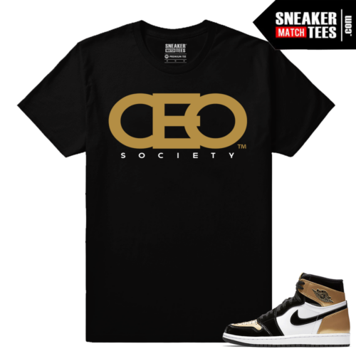 Jordan 1 NRG Gold Toe Sneaker tees Black CEO Society
