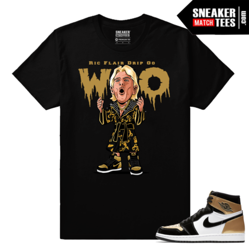 Jordan 1 NRG Gold Toe Sneaker tees Black Ric Flair Drip