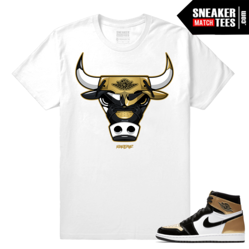 Jordan 1 NRG Gold Toe Sneaker tees White Gold Toe Bull