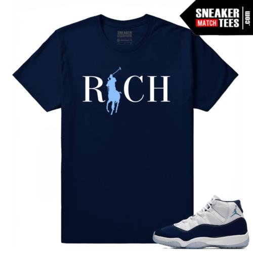 Jordan 11 Win Like 82 Sneaker tees Navy Country Club Rich