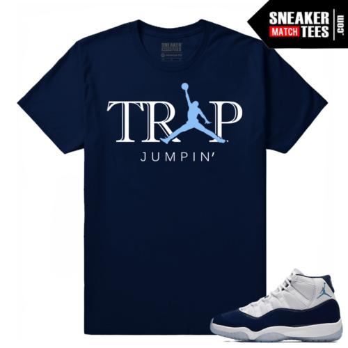 Jordan 11 Win Like 82 Sneaker tees Navy Trap Jumpin