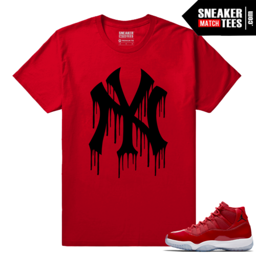 Jordan 11 Win Like 96 Sneaker Tees Red Ny Drip Black