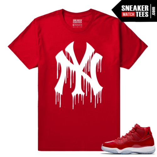 Jordan 11 Win Like 96 Sneaker Tees Red Ny Drip White