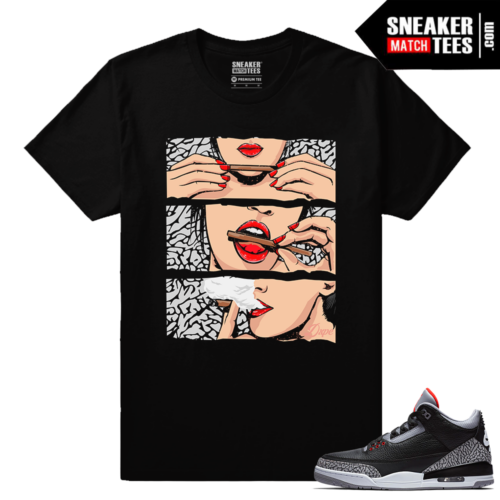 Jordan 3 Black Cement Sneaker tees Blunts
