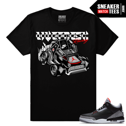 Jordan 3 Black Cement Sneaker tees Cement 3 Racer