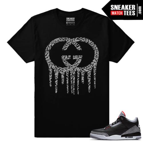 Jordan 3 Black Cement Sneaker tees Gucci Drip
