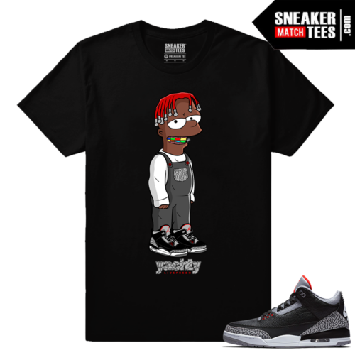 Jordan 3 Black Cement Sneaker tees Lil Yachty