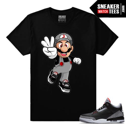 Jordan 3 Black Cement Sneaker tees Mario Cement 3s