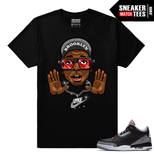 Jordan 3 Black Cement Sneaker tees Mars Blackmon