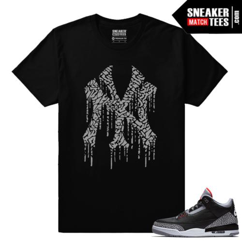 Jordan 3 Black Cement Sneaker tees NY Drip