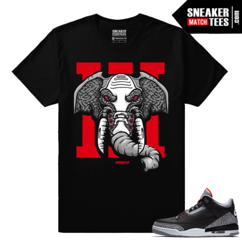 Jordan 3 Black Cement Sneaker tees Rare Air Elephant