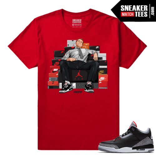 Jordan 3 Black Cement Sneaker tees Red Al Bundy Shoe Connect