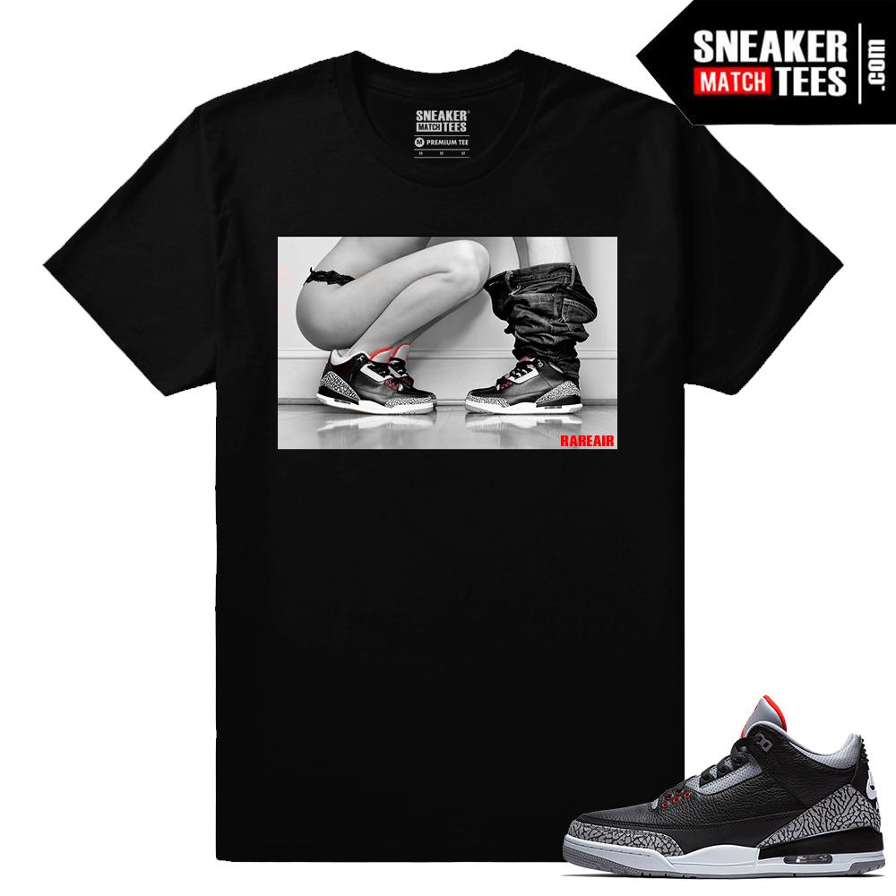 online store d8134 834d8 Jordan 3 Black Cement Sneaker tees Sneakerhead 3s