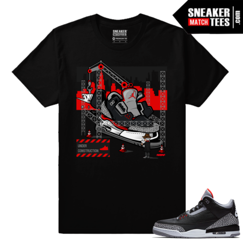Jordan 3 Black Cement Sneaker tees Tinker Hatfield Architect