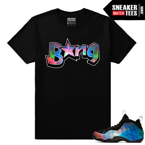 Big Bang Foamposites Sneaker Match Tees Black BANG