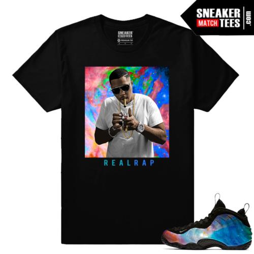 Big Bang Foamposites Sneaker Match Tees Black Nas Real Rap