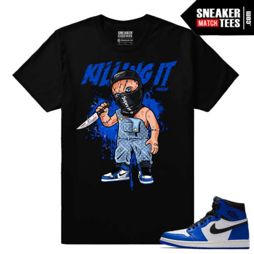 Match Game Royal 1 Jordan Retro Sneaker tees