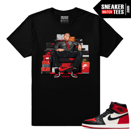 Jordan 1 Bred toe Sneaker Match Tees Al Bundy Shoe Connect