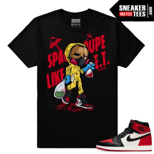 Jordan 1 Bred toe Sneaker Match Tees Plug Walk