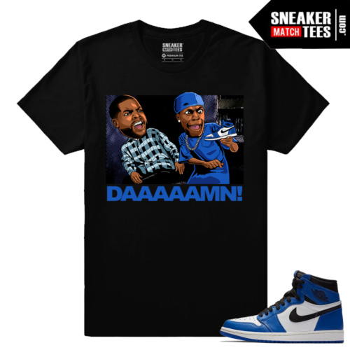 Jordan 1 Game Black Sneaker Match Tees Black Friday Daaaamn