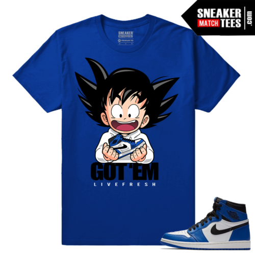 Jordan 1 Game Royal Sneaker Match Tees Royal Got EM