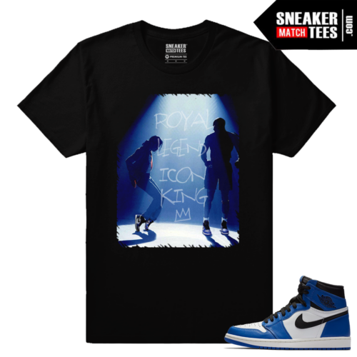 Jordan 1 Game Royal Sneaker Match Tees Black In the Ones