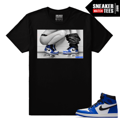 Jordan 1 Game Royal Sneaker Match Tees Black Sneakerhead Royals