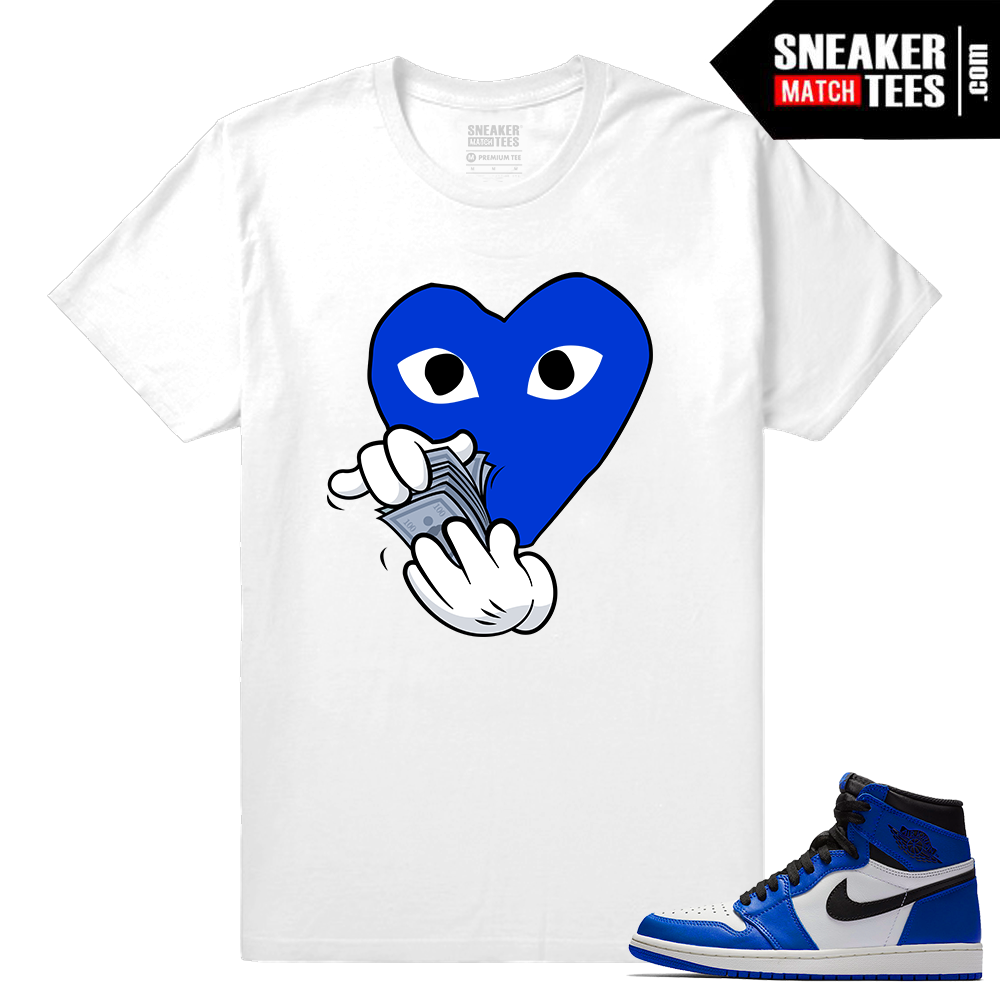 Jordan 1 Game Royal Sneaker Match Tees Comme De Money