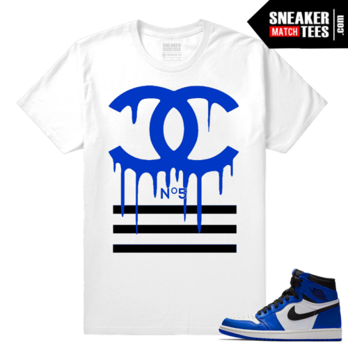 Jordan 1 Game Royal Sneaker Match Tees Designer Drip