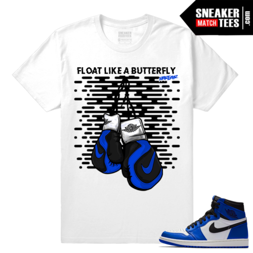Jordan 1 Game Royal Sneaker Match Tees Float like a Butterfly