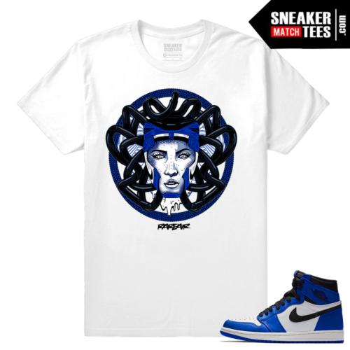 Jordan 1 Game Royal Sneaker Match Tees Medusa 1s