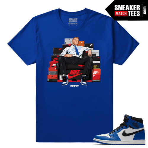 Jordan 1 Game Royal Sneaker Match Tees Royal Bundy Shoe Connect