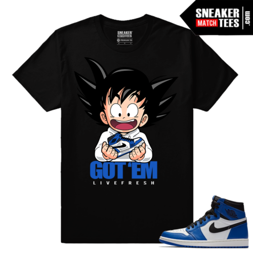 Jordan 1 Game Royal Sneaker Match Tees Black Got EM