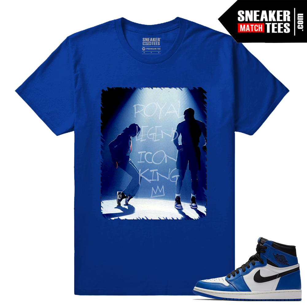 Jordan 1 Game Royal Sneaker Match Tees Royal In the Ones