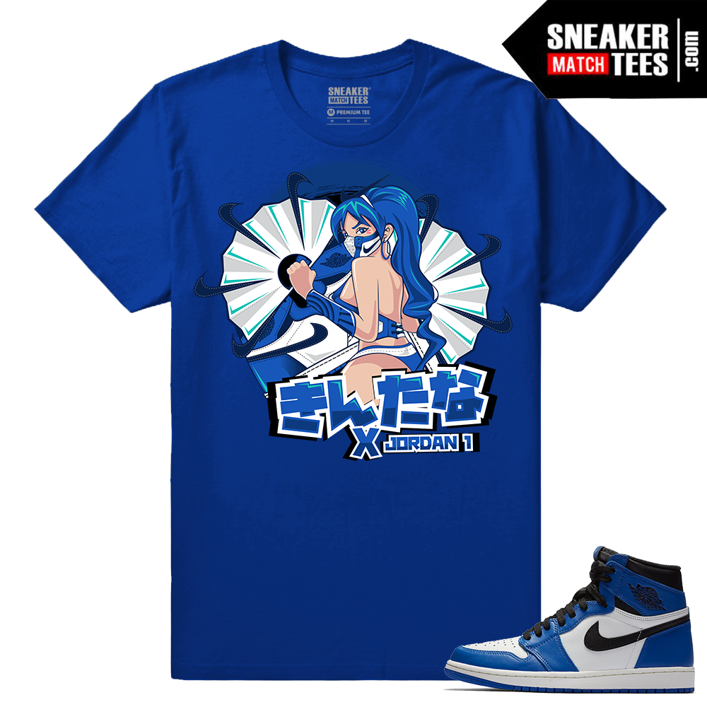 Jordan 1 Game Royal Sneaker Match Tees Royal Kitana x Jordan 1