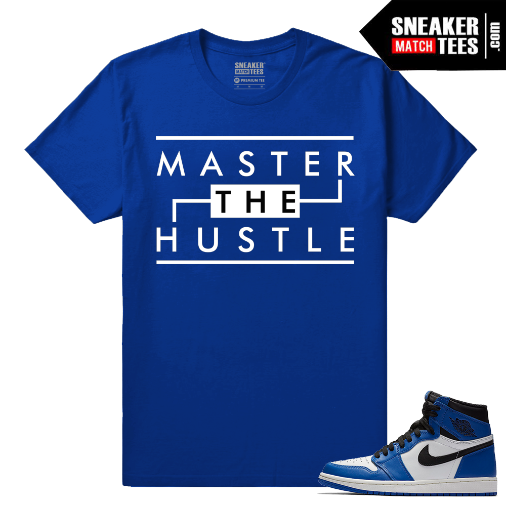 Jordan 1 Game Royal Sneaker Match Tees Royal Master the Hustle