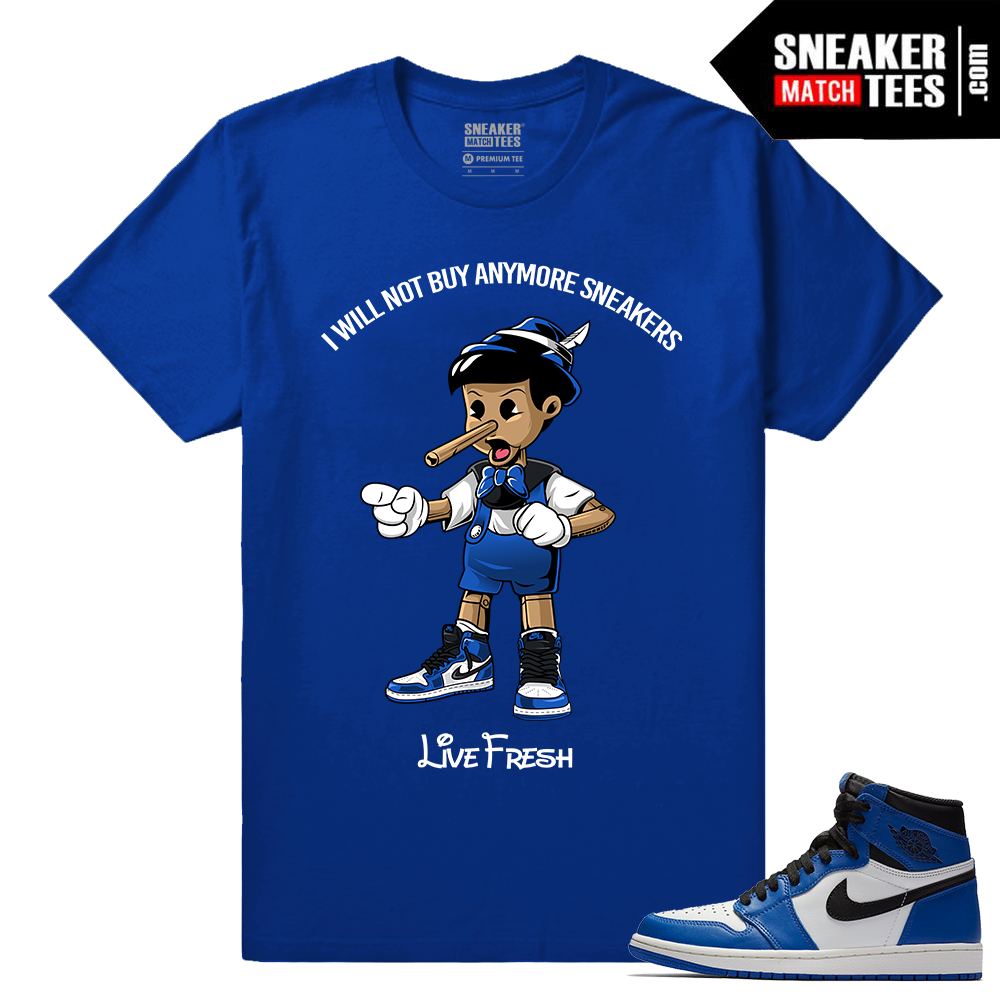 Jordan 1 Game Royal Sneaker Match Tees Royal Sneakerhead Pinocchio