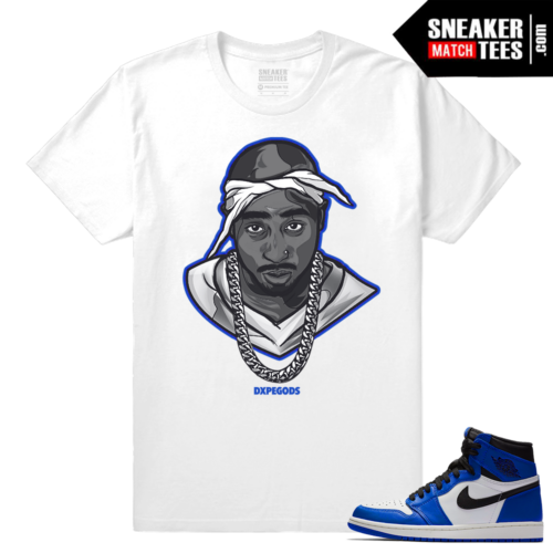 Jordan 1 Game Royal Sneaker Match Tees Tupac Dxpe Gods