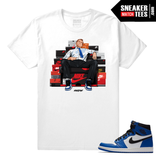 Jordan 1 Game Royal Sneaker Match Tees White Bundy Shoe Connect
