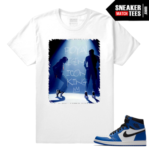 Jordan 1 Game Royal Sneaker Match Tees White In the Ones